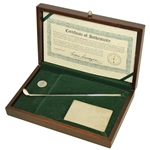 Gene Sarazen Signed Ltd Ed 1935 Masters Sterling Silver 4wd Presentation Box with Club & Ball Mark