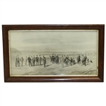 """The First Tee at Westward Ho!"" Replica Print After Major F.P. Hopkins - Framed"