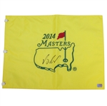 Vijay Singh Signed 2014 Masters Embroidered Flag JSA ALOA