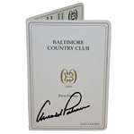 57a7c25a8e2 Arnold Palmer Signed Baltimore Country Club Official Scorecard JSA ALOA