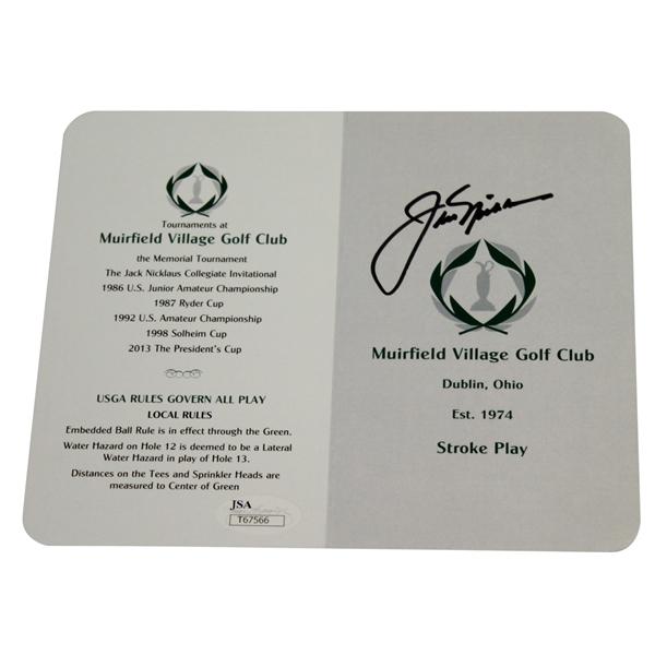 Lot Detail - Jack Nicklaus Signed Muirfield Village Golf