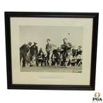 Byron Nelson & Gene Sarazen Circa 1930s At The Masters Photo By John G. Hemmer - Framed