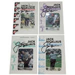 Jack Nicklaus Signed 1995 Memorial Tournament Calling Cards - Full 4 Card Series JSA ALOA