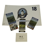 2007 PGA Championship at Southern Hills Embroidered Flag & Pairing Guides - Woods Victory