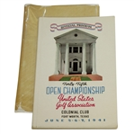 1941 US Open Championship at Colonial CC Program - Craig Wood Winner