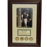 Tiger Woods Grand Slam Framed Presentation - Completed At St. Andrews