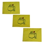 2001, 2002, & 2005 Masters Embroidered Flags - Tiger Woods Winner