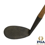 Klin Klub McGill Metal Wood Shafted Backspin Mashie w/ Deep Face Grooves & Leather Grip - Flower Logo Stamped in Head