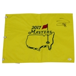 Sergio Garcia Signed 2017 Masters Embroidered Flag JSA FULL LETTER #Y88594