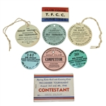 Eight 1940s Golf Contestant Badges - Oakland Open(x2), Dunlop, Lotus, and Others
