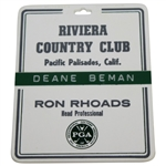 Deane Bemans 1983 PGA Championship at Riviera Country Club Bag Tag