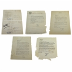 Paul Hahn Signed Five Letters/Postcards to Charles Price - 1950s JSA ALOA