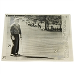 Jack Nicklaus Masters Putt UPI Wire Photo April 7, 1966 - 3rd Win