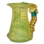 Burleigh Ware Ceramic Golf Themed Pitcher / Decanter - Made in England