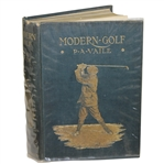 1909 Modern Golf by P.A. Vaile Hardcover Book First Edition