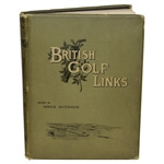 1897 1st Edition British Golf Links Book by Horace Hutchinson - Very Good Condition