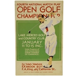 1920s Fourth National Match Play Open Golf Championship in San Fran Broadside - Vibrant Graphics