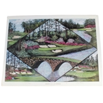 Augusta National Ltd Ed Print by Artist Jay Golden in 1997 Featuring Amen Corner