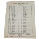 1958 Masters Pairing Sheet - Friday April 4th - Palmer First Green Jacket