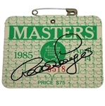 Bernhard Langer Signed 1985 Masters Tournament Badge #X8518 JSA #EE96313