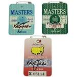 Nick Faldo Signed 1989, 1990, & 1996 Masters Tournament Badges- All JSA Certified