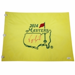 Vijay Singh Signed 2014 Masters Embroidered Flag JSA #EE96298