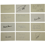 Masters Winners Middlecoff, Wall, Watson, Brewer, Willet & Others Signed Cards JSA ALOA