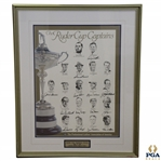 1995 US Ryder Captains Signed by Hogan, Palmer, Nicklaus & Others Poster - Only 38 Produced JSA ALOA