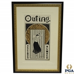 Early 1900s Lady Golfer The Outing September Publication Poster