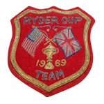 Ray Floyds 1969 Ryder Cup Contestant Bullion Blazer Crest / Badge