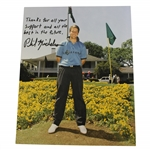Phil Mickelson Signed 1991 Masters Low Am Clubhouse Photo w/ Early Sig & Insc JSA ALOA