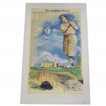 Bobby Jones Slam First Leg at St Andrews Deluxe Offset Lithograph 324/650 by Douglas B London