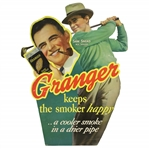 Sam Snead Granger Tobacco Advertising Cut Out Sizable Broadside Display