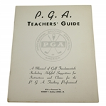 Vintage PGA Teachers Guide w/ Foreword from Bob Jones
