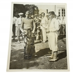 Bobby Jones Wire Photo w/ Caddy - Published by French Newspaper