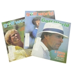 Jack Nicklaus, Tom Watson, & Gary Player Signed Golf World Magazines JSA ALOA