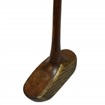 Circa 1920 G. MacGregor Dayton Ohio Wooden-Head Mallet Putter with Brass Face & Hatched Scoring