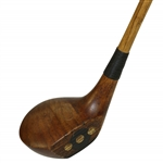 Circa 1920s MacGregor Yardsmore X-A Series Fancy Face Wood - Pat. Pending Lead Back Weight