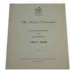 1969 Masters Tournament Scoring Records & Statistics Booklet Compiled by Bill Inglish