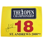 Tiger Woods Signed 2000 Open at St. Andrews Ltd Ed Flag 382/500 UDA #BAM07922