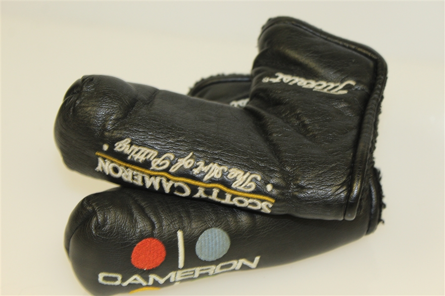 Two Scotty Cameron Black Putter Head Covers - 'Art of Putting' & 'Studio Style'