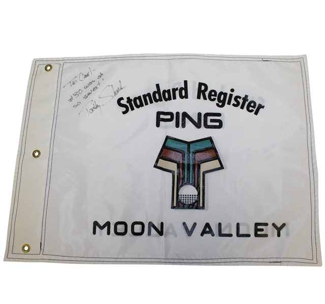 Patty Sheehan Signed 1993 Standard Ping Register Tourn. Champs Flag at Moon Valley 18th Green Flag JSA ALOA