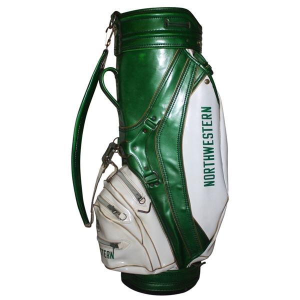 Bruce Crampton Personal Northwestern Golf Bag with Photo