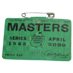 1968 Masters Tournament Series Badge #11872 - Bob Goalby Win