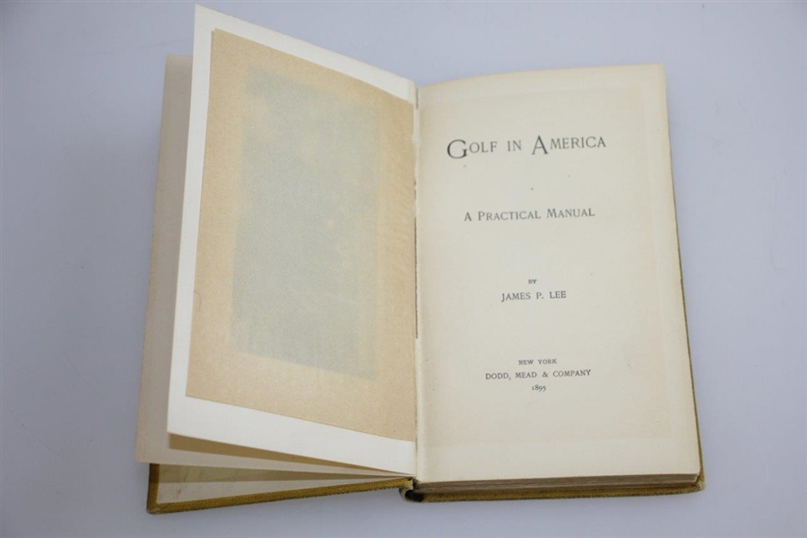 1895 'Golf in America - A Practical Manual' by James P. Lee - First Golf Book Published in US