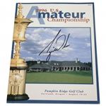 Tiger Woods Signed 1996 US Amateur at Pumpkin Ridge Official Program with Ticket FULL JSA