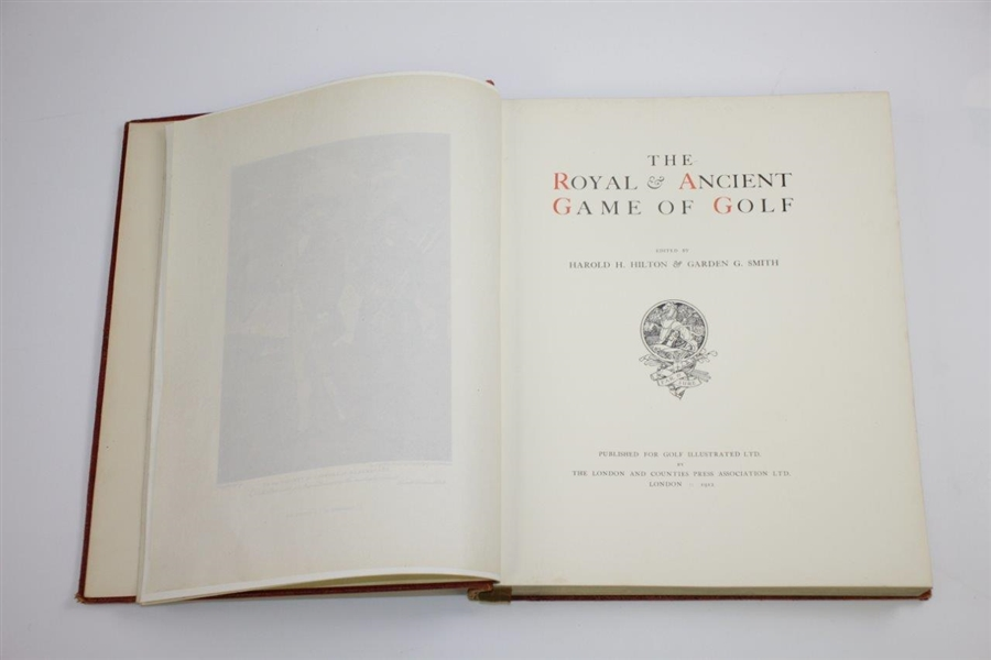 1912 Ltd Ed 'The Royal & Ancient Game of Golf' by Harold Hilton & Garden Smith 394/900