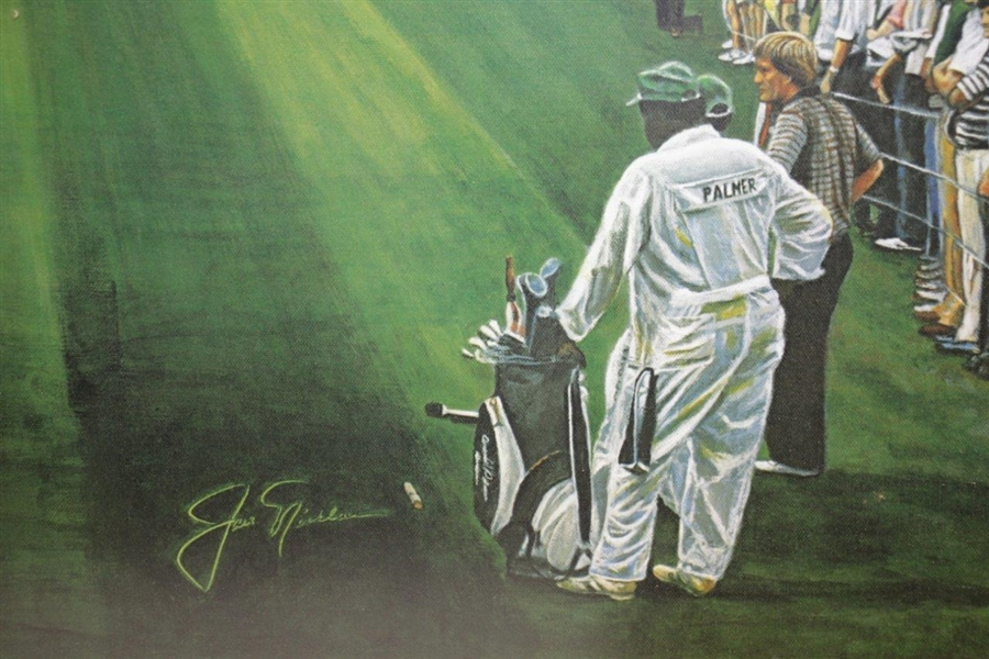 Ltd Ed Sunday in Augusta Print Features Jack & Arnie at 16th Hole - Framed 975/1000