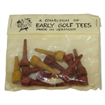 Vintage Set of Red & Yellow Early Golf Tees - Made in Vermont - Crist Collection