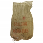 "Vintage ""Spalding Wood Tees"" Canvas Golf Tee Bag - Crist Collection"